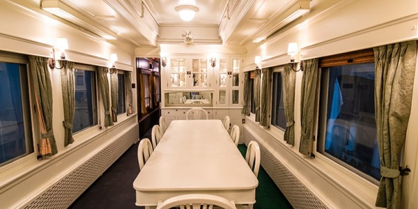 Inside one of the cabins of the Governor General's rail cars